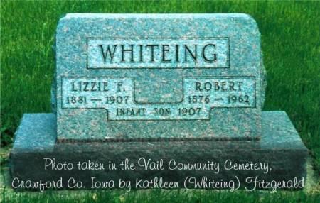 WHITEING, ROBERT, ELIZABETH FRANCES (MASON) & INFANT SON - Crawford County, Iowa | ROBERT, ELIZABETH FRANCES (MASON) & INFANT SON WHITEING