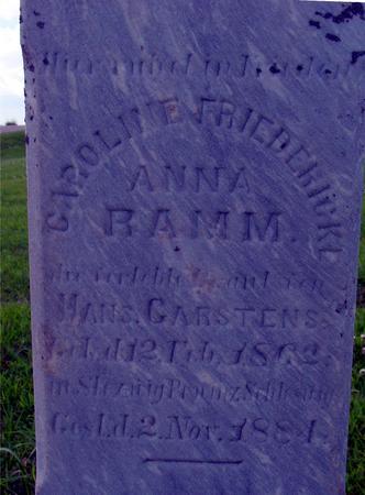 RAMM, ANNA - Crawford County, Iowa | ANNA RAMM
