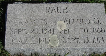 RAUB, ALFRED & FRANCES - Crawford County, Iowa | ALFRED & FRANCES RAUB