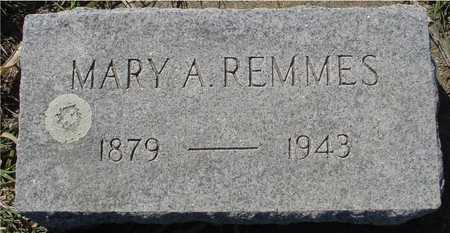 REMMES, MARY A. - Crawford County, Iowa   MARY A. REMMES
