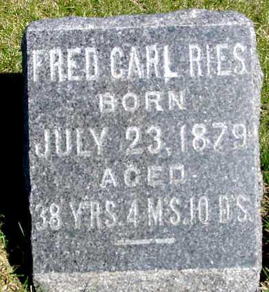 RIES, FRED CARL - Crawford County, Iowa   FRED CARL RIES