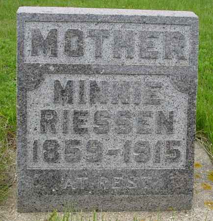 RIESSEN, MINNIE - Crawford County, Iowa | MINNIE RIESSEN