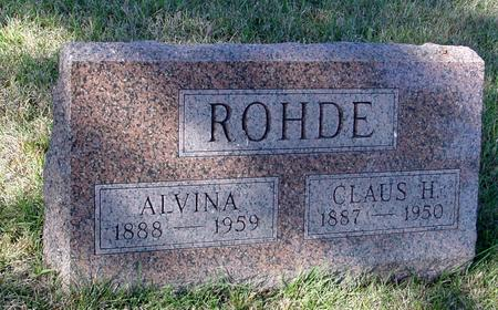 ROHDE, CLAUS & ALVINA - Crawford County, Iowa | CLAUS & ALVINA ROHDE