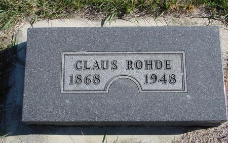 ROHDE, CLAUS - Crawford County, Iowa | CLAUS ROHDE