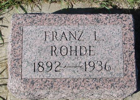 ROHDE, FRANZ L. - Crawford County, Iowa | FRANZ L. ROHDE