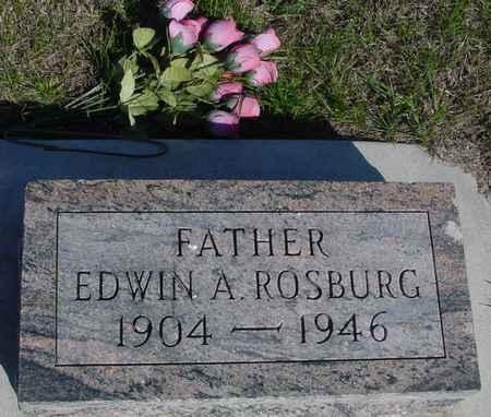 ROSBURG, EDWIN A. - Crawford County, Iowa   EDWIN A. ROSBURG