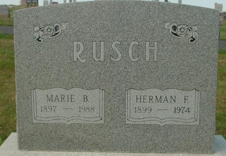 RUSCH, HERMAN F. & MARIE - Crawford County, Iowa   HERMAN F. & MARIE RUSCH