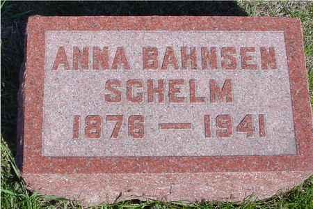 BAHNSEN SCHELM, ANNA - Crawford County, Iowa | ANNA BAHNSEN SCHELM