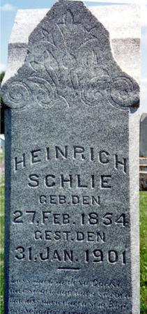 SCHLIE, HEINRICH - Crawford County, Iowa   HEINRICH SCHLIE