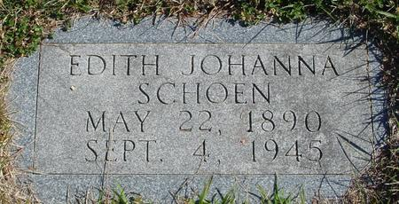 SCHOEN, EDITH JOHANNA - Crawford County, Iowa   EDITH JOHANNA SCHOEN