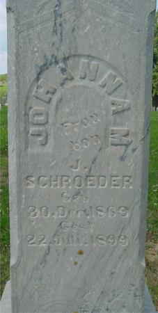 SCHROEDER, JOHANNA - Crawford County, Iowa | JOHANNA SCHROEDER