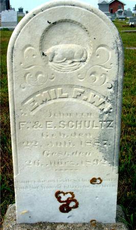 SCHULTZ, EMIL F. W. - Crawford County, Iowa   EMIL F. W. SCHULTZ
