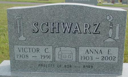 SCHWARZ, VIC TOR  & ANNA - Crawford County, Iowa   VIC TOR  & ANNA SCHWARZ