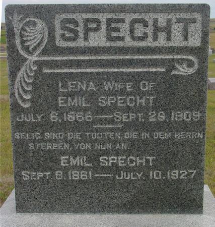 SPECHT, EMIL & LENA - Crawford County, Iowa   EMIL & LENA SPECHT