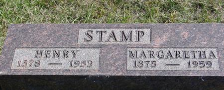 STAMP, HENRY & MARGARETHA - Crawford County, Iowa | HENRY & MARGARETHA STAMP