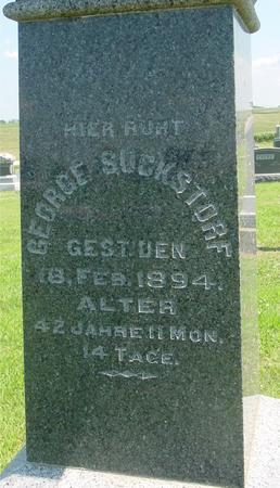 SUCKSTORF, GEORGE - Crawford County, Iowa   GEORGE SUCKSTORF