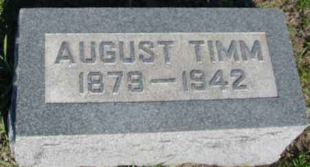 TIMM, AUGUST - Crawford County, Iowa | AUGUST TIMM