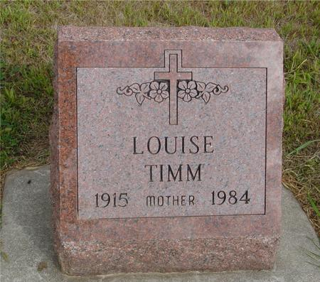 TIMM, LOUISE - Crawford County, Iowa | LOUISE TIMM