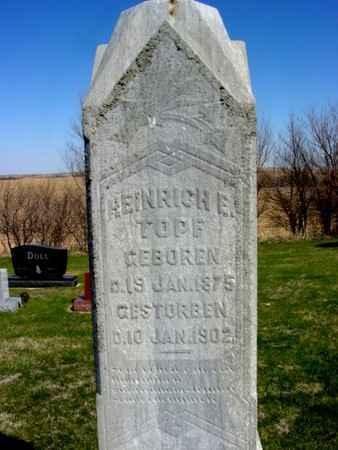 TOPF, HEINRICH E. - Crawford County, Iowa | HEINRICH E. TOPF