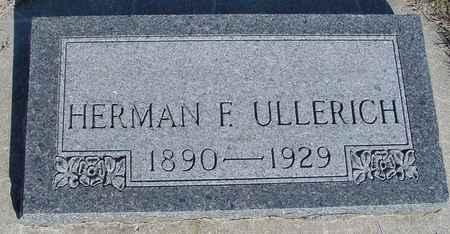 ULLERICH, HERMAN F. - Crawford County, Iowa | HERMAN F. ULLERICH