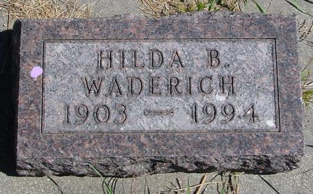 WADERICH, HILDA B. - Crawford County, Iowa | HILDA B. WADERICH