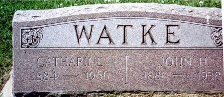WATKE, JOHN H. & CATHARINE - Crawford County, Iowa | JOHN H. & CATHARINE WATKE
