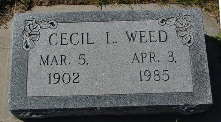 WEED, CECIL L. - Crawford County, Iowa   CECIL L. WEED