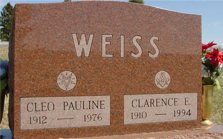 WEISS, CLARENCE & CLEO P. - Crawford County, Iowa | CLARENCE & CLEO P. WEISS