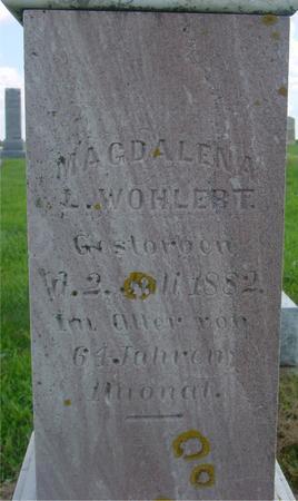 WOHLERT, MAGDALENA - Crawford County, Iowa   MAGDALENA WOHLERT