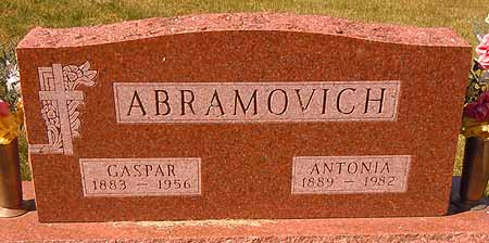 ABRAMOVICH, GASPAR - Dallas County, Iowa | GASPAR ABRAMOVICH