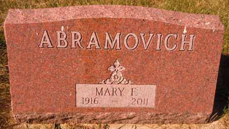 ABRAMOVICH, MARY F. - Dallas County, Iowa | MARY F. ABRAMOVICH