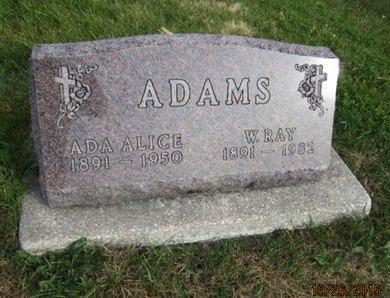ADAMS, ADA ALICE - Dallas County, Iowa | ADA ALICE ADAMS