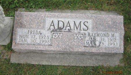 ADAMS, FREDA - Dallas County, Iowa | FREDA ADAMS