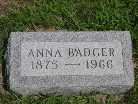 BADGER, ANNA - Dallas County, Iowa | ANNA BADGER