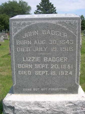 BADGER, LIZZIE - Dallas County, Iowa | LIZZIE BADGER