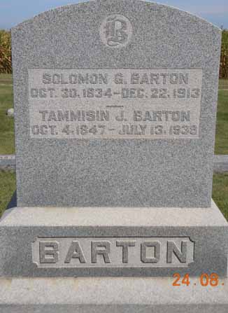 BARTON, TAMMISIN J - Dallas County, Iowa   TAMMISIN J BARTON