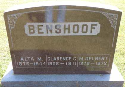 BENSHOOF, ALTA M - Dallas County, Iowa | ALTA M BENSHOOF