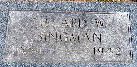 BINGMAN, LIEUARD W - Dallas County, Iowa   LIEUARD W BINGMAN