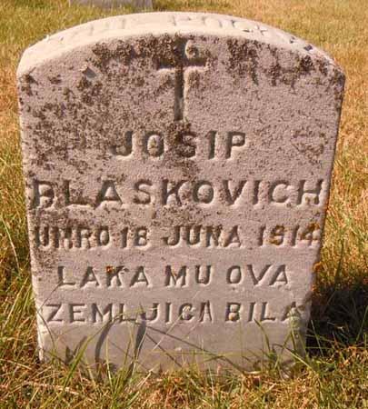 BLASKOVICH, JOSIP - Dallas County, Iowa | JOSIP BLASKOVICH