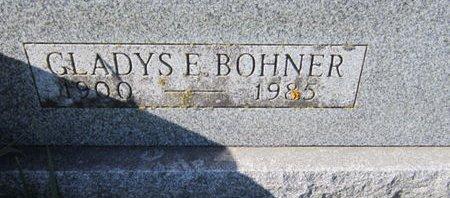 BOHNER, GLADYS E - Dallas County, Iowa   GLADYS E BOHNER