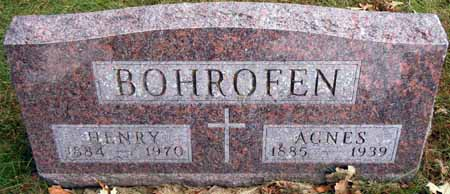 BOHROFEN, AGNES - Dallas County, Iowa | AGNES BOHROFEN