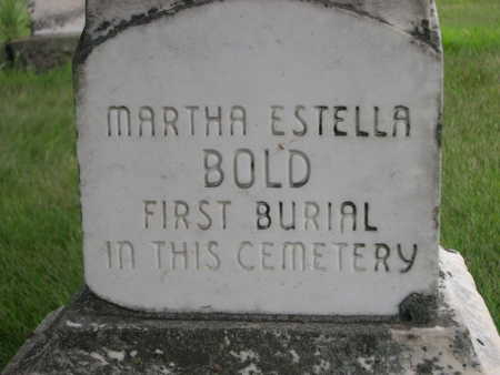 BOLD, MARTHA ESTELLA - Dallas County, Iowa | MARTHA ESTELLA BOLD