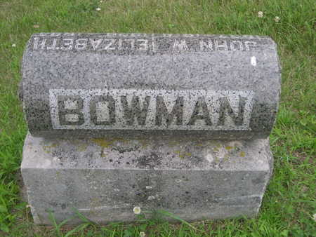 BOWMAN, FAMILY - Dallas County, Iowa   FAMILY BOWMAN