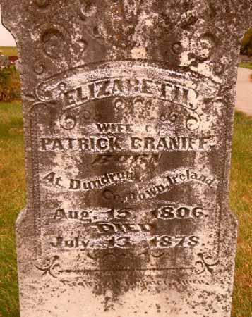 BRANIFF, ELIZABETH - Dallas County, Iowa   ELIZABETH BRANIFF