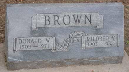 BROWN, MILDRED V - Dallas County, Iowa | MILDRED V BROWN