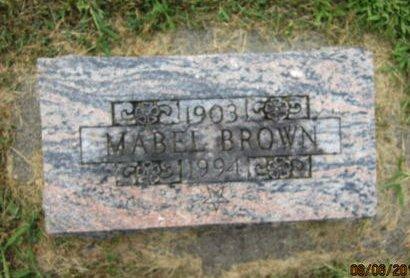 BROWN, MABEL - Dallas County, Iowa | MABEL BROWN