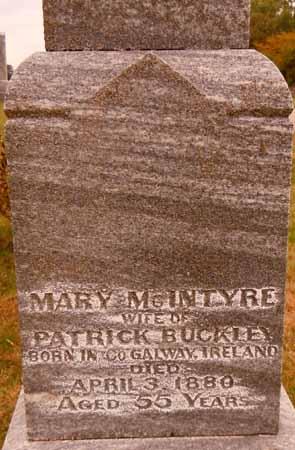 MCINTYRE BUCKLEY, MARY - Dallas County, Iowa | MARY MCINTYRE BUCKLEY