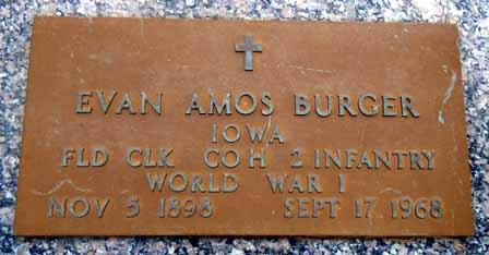 BURGER, EVAN AMOS - Dallas County, Iowa | EVAN AMOS BURGER