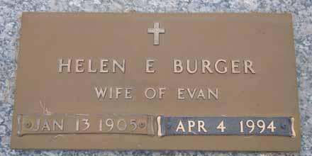 BURGER, HELEN E - Dallas County, Iowa   HELEN E BURGER