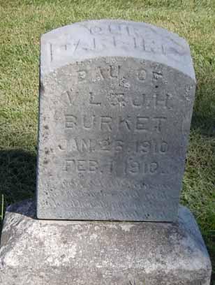 BURKET, DAUGHTER - Dallas County, Iowa   DAUGHTER BURKET